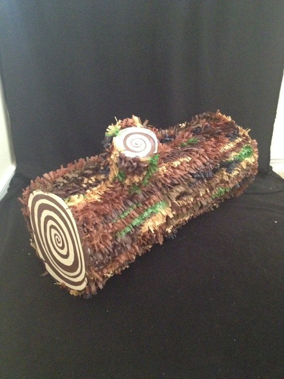 Camoflage Pinata Camo Log Custom Hand Made by angelaspinatas