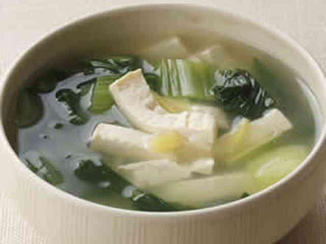 簡単!チンゲン菜と豆腐のしょうがスープの画像