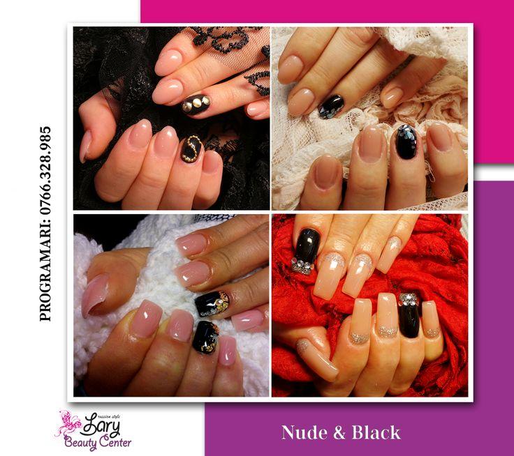 nude and black nails http://www.larybeautycenter.ro/servicii/unghii-cu-gel-sau-acryl