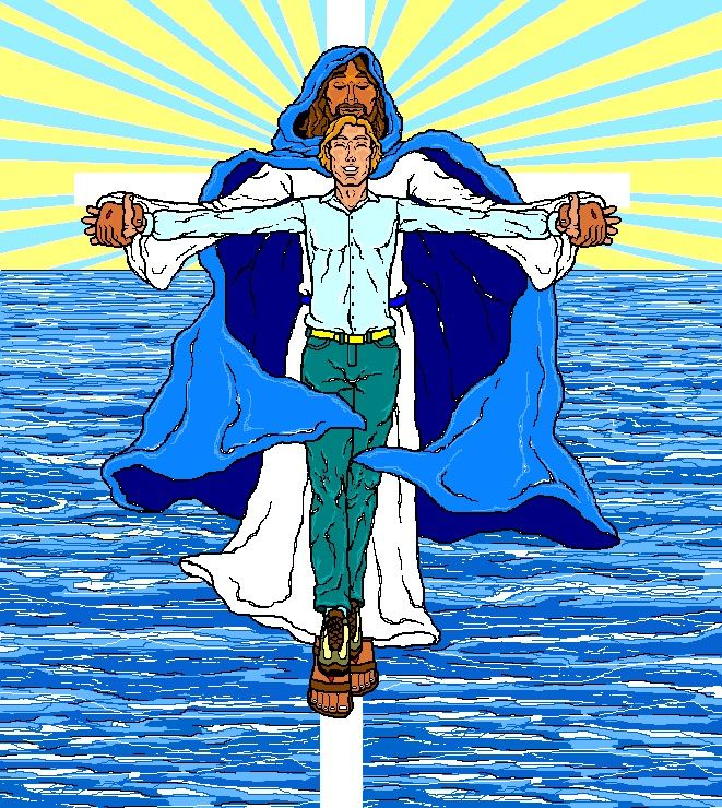 Computer illustration of Wrapped in Salvation.