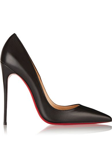 Every professional woman needs a power shoe for the boardroom ...Christian Louboutin So Kate 120 black leather pumps