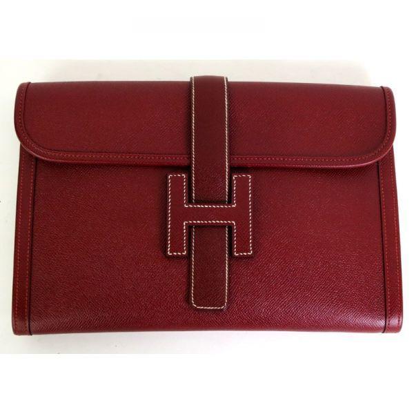 【中古】Hermes(エルメス) ジジェPM クラッチ バッグ クシュベル ルージュアッシュ ○X刻印/エルメスのジジェPMクラッチバッグになります。大き目のHの留めデザインで高級感かつオシャレなクラッチバッグです。/新品同様・極美品・美品の中古ブランド時計を格安で提供いたします。