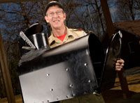 Make your own mailbox stove -- Boys' Life magazine
