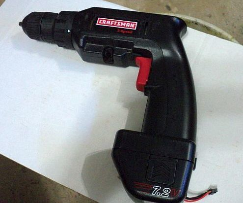 I like to pick up early vintage cordless drills at thrift stores, they go for cheap especially if it has no charger and a dead battery, this vintage Sears 7.2 volt nicad tool went for $2 because it was the latter. I had on hand a T-Plug 11.1V 1500mAh 25C 3S VOK Discharge LiPO Battery that runs for about $8 U.S., including shipping, and decided to use it for the hack. I've found from past conversions that the voltage disparity isn't much of an issue, the D.C. motors used in...