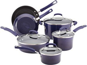 Eggplant 10-pc. Porcelain Enamel II Nonstick Cookware Set by Rachael Ray by Rachael Ray at Cooking.com