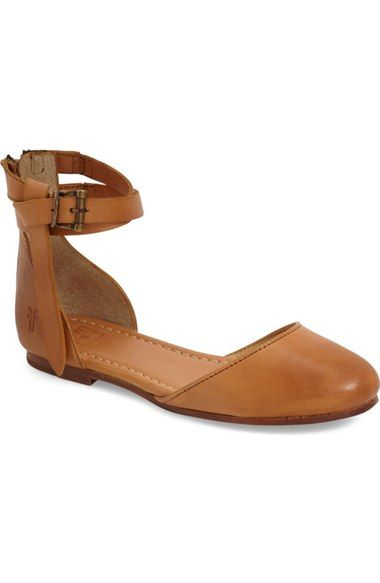 Frye 'Carson' Ankle Strap Ballet Flat (Women) available at #Nordstrom