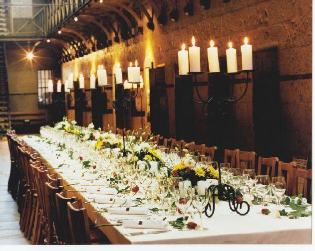 Wedding reception at Old Melbourne Gaol