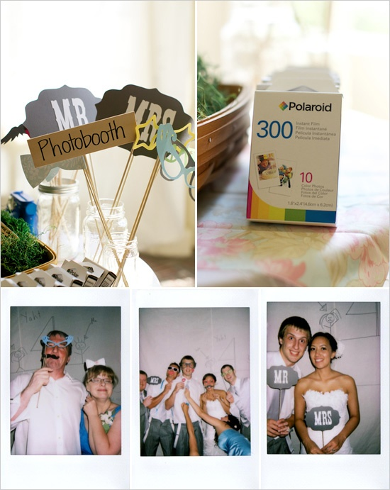 polaroid photobooth diy projects we love pinterest idee deco mariages et id e. Black Bedroom Furniture Sets. Home Design Ideas