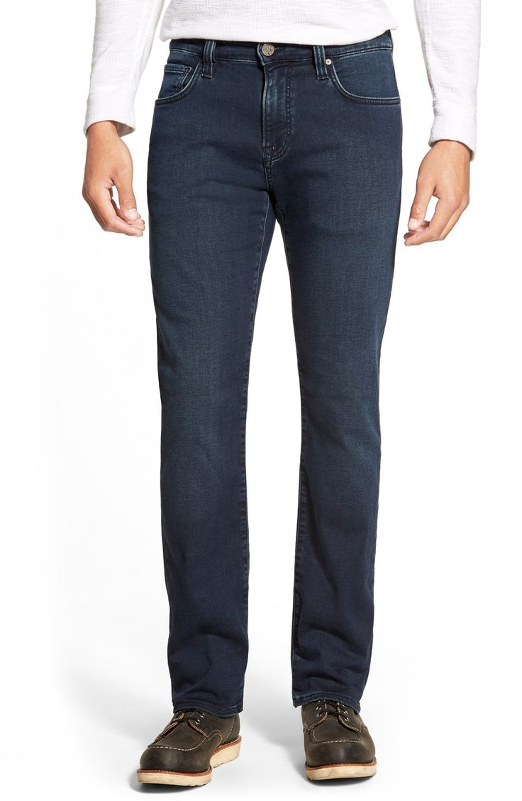 34 Heritage 'Courage' Straight Leg Jeans (Deep Sporty)