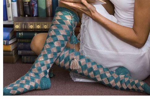 Entrelac Pattern - AllFreeKnitting.com - Free Knitting