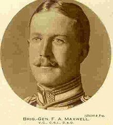 Brigadier-General Francis Aylmer Maxwell, VC, CSI, DSO & Bar. Second Boer War, Sanna's post (Korn Spruit) 1900(Aged 28).Lieutenant attached to the Robert's Light Horse.Born Guildford 1871.Died Ypres (WW1) 1917.CITATION:Lieutenant Maxwell was specially mentioned by Lord Roberts as having shown the greatest Gallantry, and disregard to danger during the recovery of the guns of 'Q' Battery at Sanna post.