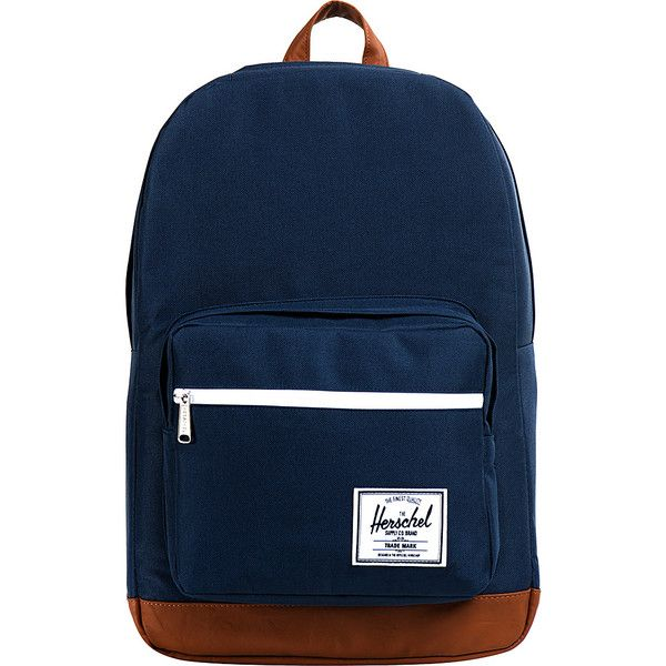 Herschel Supply Co. Pop Quiz Laptop Backpack ($70) ❤ liked on Polyvore featuring bags, backpacks, accessories, blue, laptop backpacks, waterproof rucksack, waterproof laptop backpack, water proof backpack, mesh bag and waterproof bag