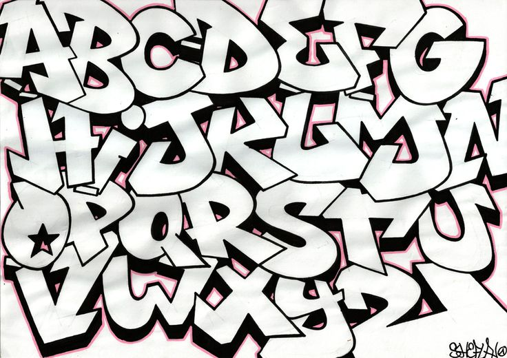 Graffiti Letters | Alphabet graffiti - Sketch - Blog Lyonbombing