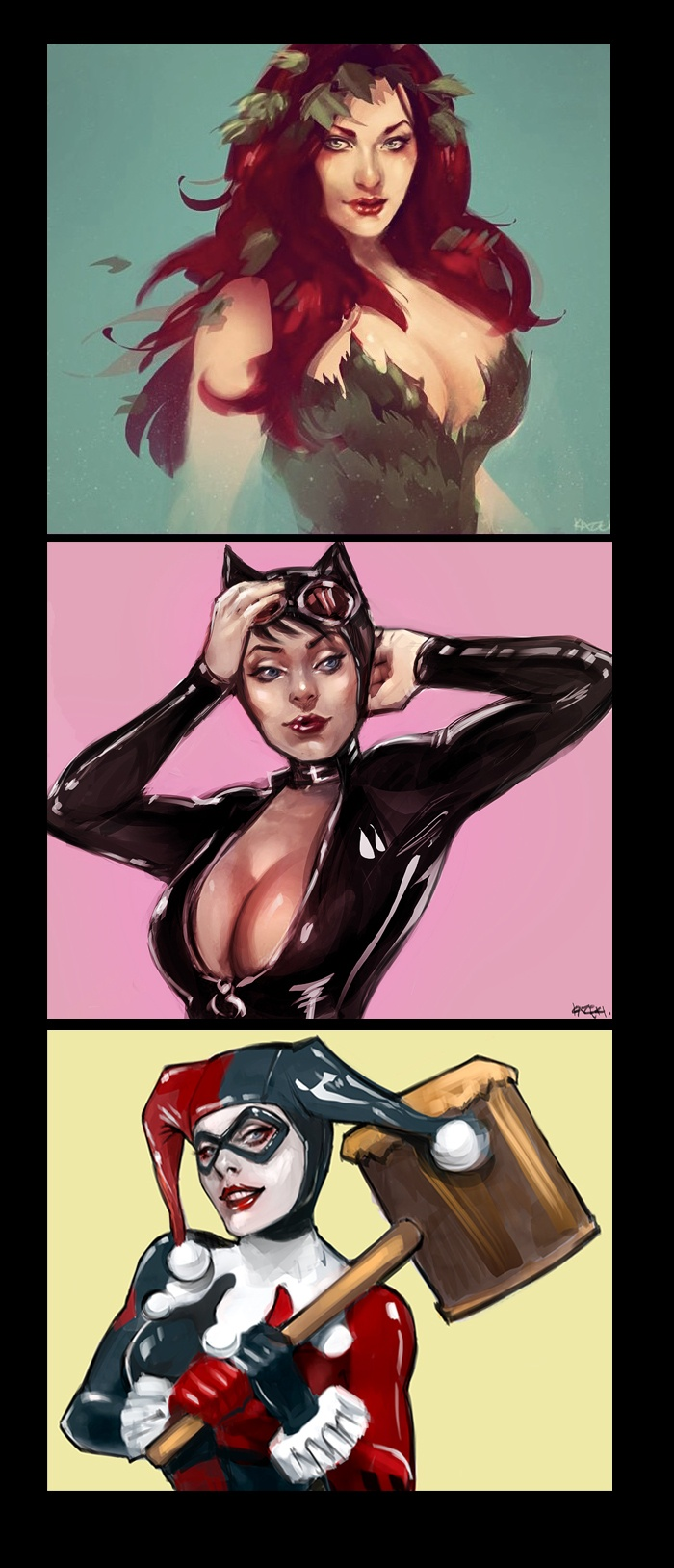 SIRENS by ~Kazeki  one of the reasons I loved Harley Quinn: She didn't have to show cleavage or any skin at all to be as drop dead gorgeous and knock out sexy as the other Sirens.