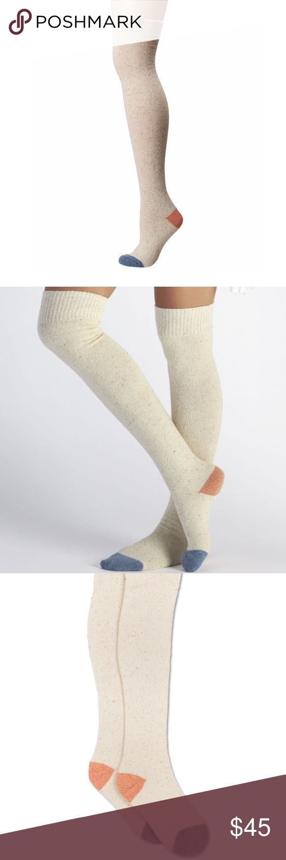 """UGG Socks UGG wool blend over the knee sock.  NWT.  Makes for a great gift.  These comfy over-the-knee socks are a must-have for your winter wardrobe 22"""" over-the-knee height Contrast color toe and heel Wool blend One pair per package Fits Women's shoe sizes 5-10 UGG Accessories Hosiery & Socks"""