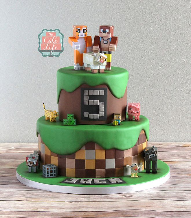 426 best Birthday Cakes images on Pinterest Minecraft party