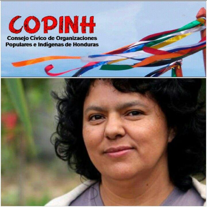In memorian de Bertha Cáceres coordinadora del COPINH, quien luchó en defensa de su territorio. Asesinato político.