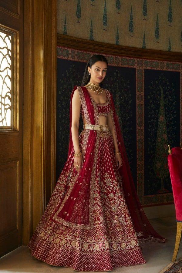 Designer Lehengas Buy Vilina Lehenga For Women Online Fw19rr055lcdd1 Wine Anita Dongre In 2020 Traditional Indian Dress Indian Bridal Dress Indian Dresses Online