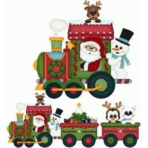 santa express christmas train pnc winter christmas pinterest rh pinterest com Trains at Christmas christmas train clipart black and white