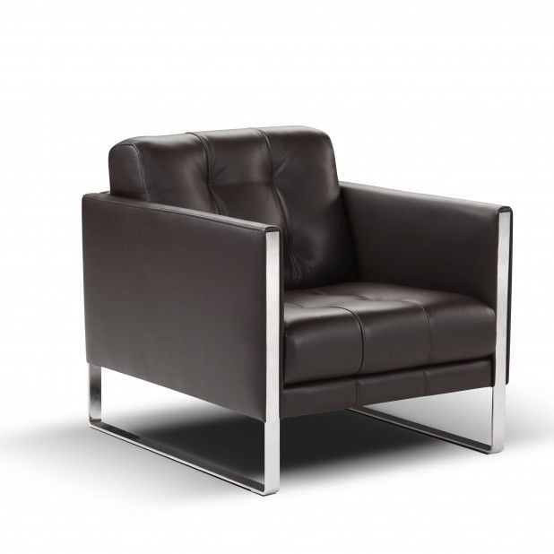 The leather Juliet chair by Calia Italia mimics the elegance of the Juliet sofa, but selfishly only has room for one.