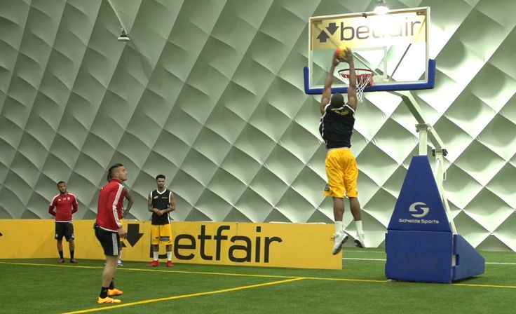 Southampton FC players Ryan Bertrand, Dušan Tadić and Cuco Martina have teamed up with London Lions basketball giants in the first Tap Tap Boom challenge from online bookmaker Betfair.  The challenge shows footballers paired with basketball players to combine their unique skills and perform football
