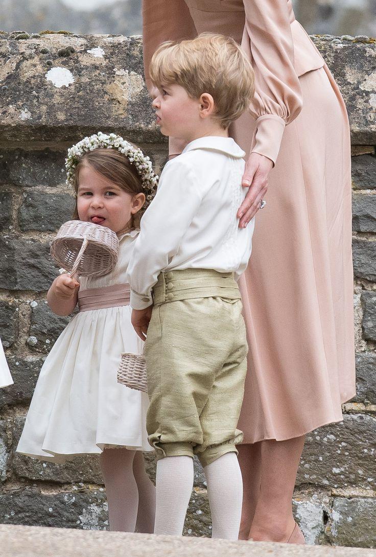 kate middleton gives princess charlotte a flower girl pep talk at