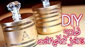 {DIY} Gold Striped Vase - YouTube