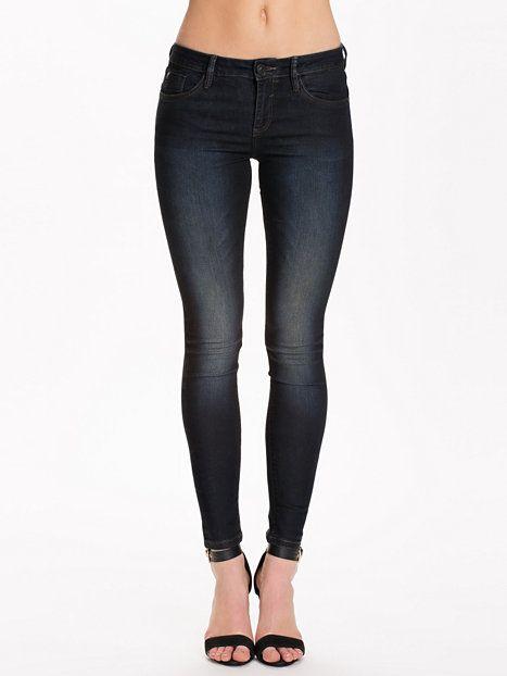 Superskinny Coated Jeans - River Island - Svart/Blå - Jeans - Klær - Kvinne - Nelly.com