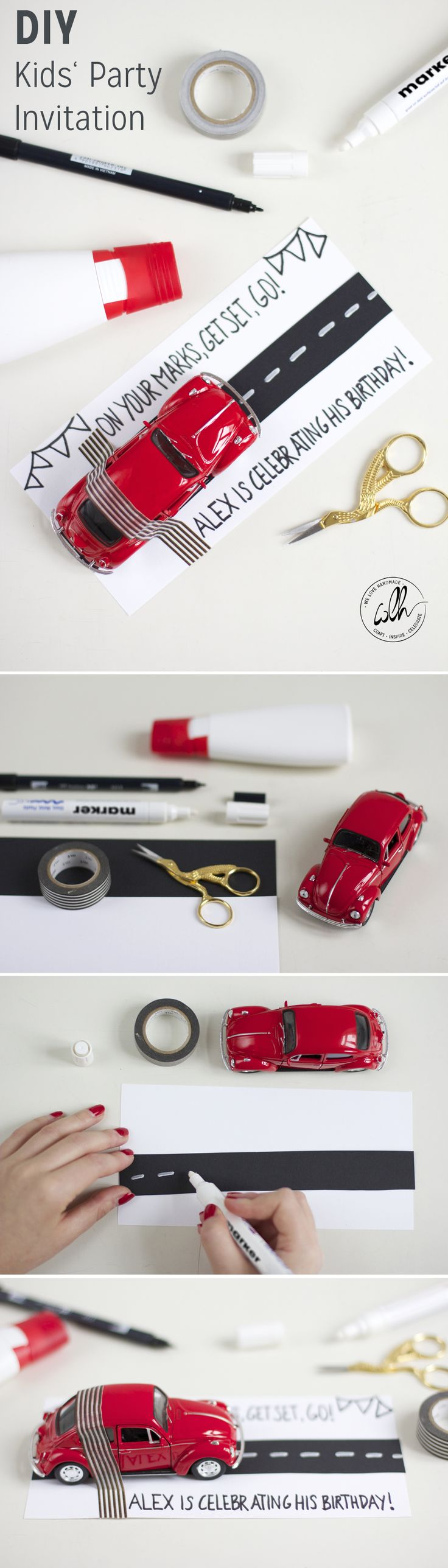 We love planning parties! How about a car racing birthday party? You'll find a DIY tutorial on how to make a party invitation at www.welovehandmade.at. For more awesome DIY ideas, check out the 'DIY Bloggers for Volkswagen' board: https://www.pinterest.com/volkswagen/diy-bloggers-for-volkswagen/