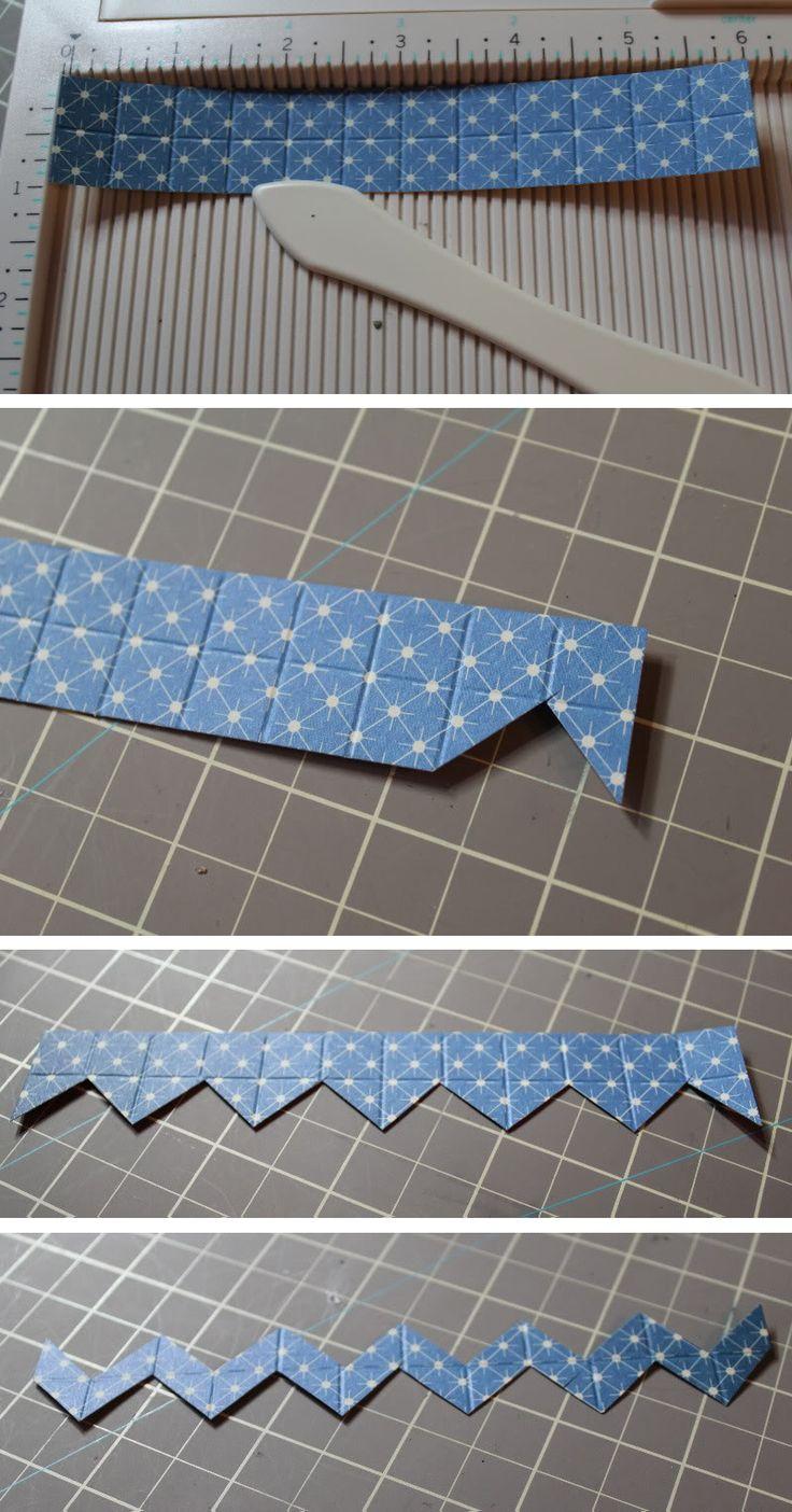 Easy way to cut a chevron strip - by Nicole