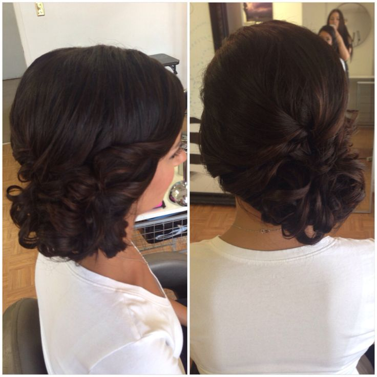 Wedding Hairstyles Side Bun: Bridal Hair, Wedding Hair, Bridesmaid Hair, Side Bun, Updo