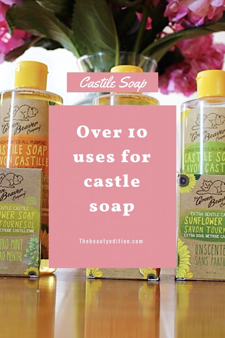 Castile soap has over 10! This DIY hack goes from household to skincare. Head over to the beauty edition for my recipes !