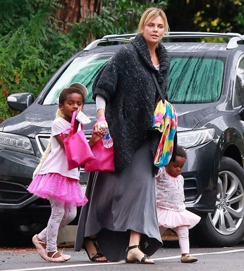 Charlize Theron's son dressed as a blonde ballerina for Halloween