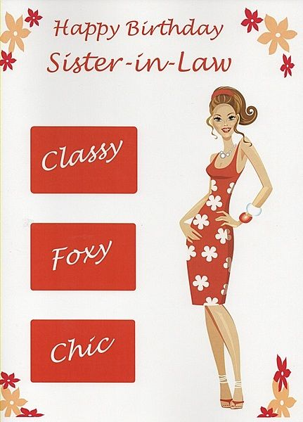17 Best ideas about Sister In Law Birthday – Sister in Law Birthday Card
