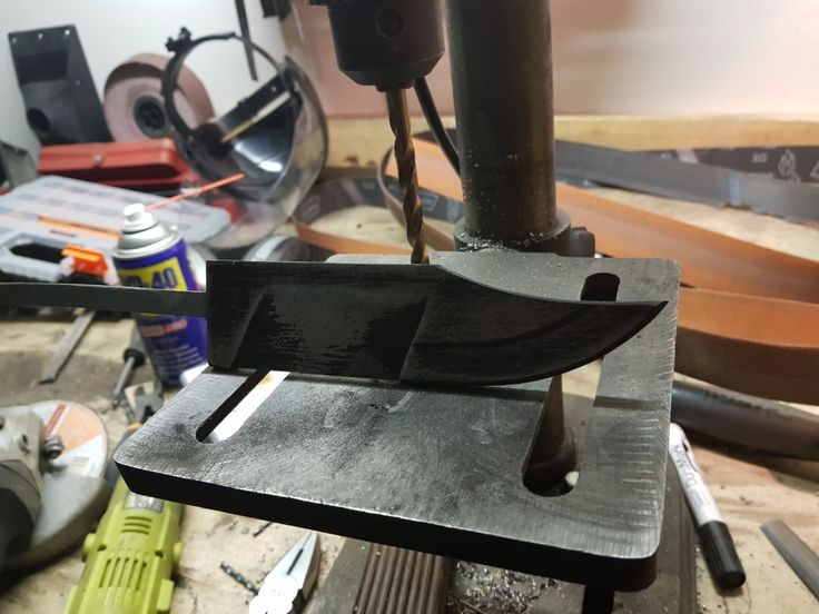 Bearing steel knife re planned bowie inspired clip point