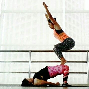 chair pose on the bridge pose  lower belly workout acro