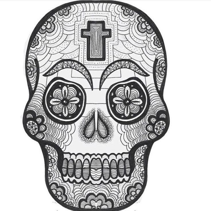 1000 ideas about dessin tete de mort on pinterest - Dessiner une tete de mort ...