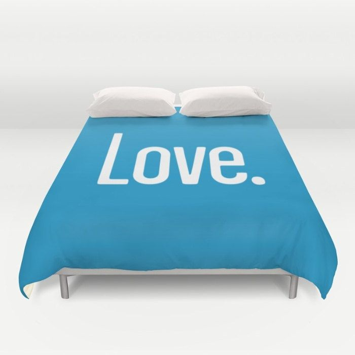 36 colours, LOVE PERIOD Quote Duvet Cover, Swedish Blue bedroom decor, double duvet cover, queen size duvet cover, king size duvet cover by ThingsThatSing on Etsy