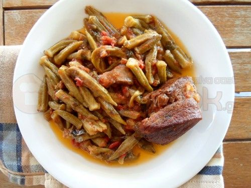 Veal with Okra - Μοσχαράκι με Μπάμιες