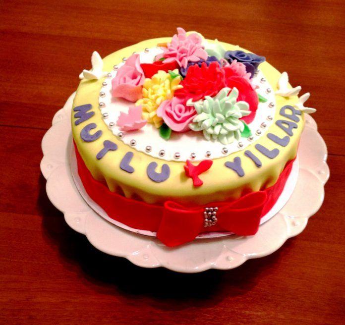 Yazılı Doğum Günü Pastaları Fikirleri ve Modelleri
