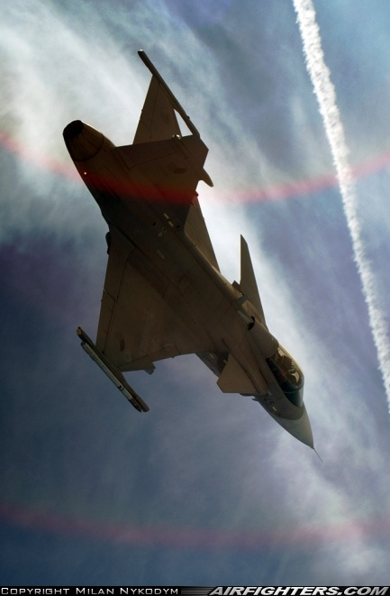 The Saab Gripen, one of my favorite jet designs.