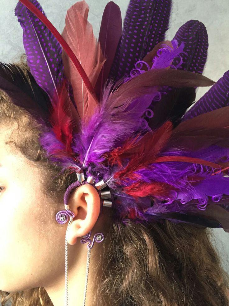 Beautiful purple earcuff for summer festival.