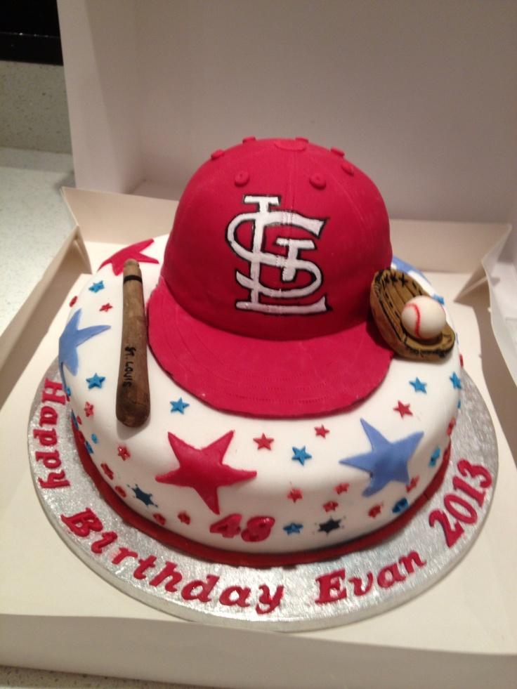7 Best Cardinal Baseball Cakes Images On Pinterest Baseball Cakes
