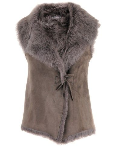 Toscana Lamb Light Grey Vest