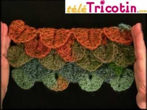 La maille Crocodile ou Ananas au crochet - YouTube