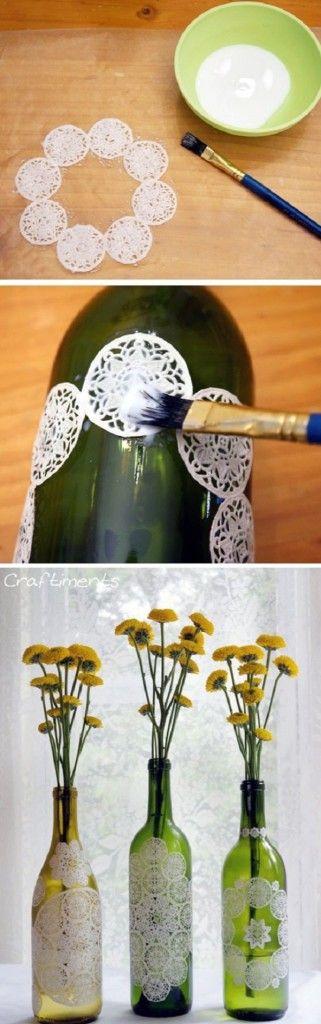 decoración botellas de vidrio 17                              …