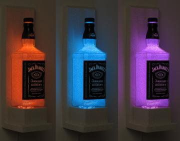 Jack Daniels Wall Mount Color Changing LED Remote Controlled Eco Friendly by BodaciousBottles