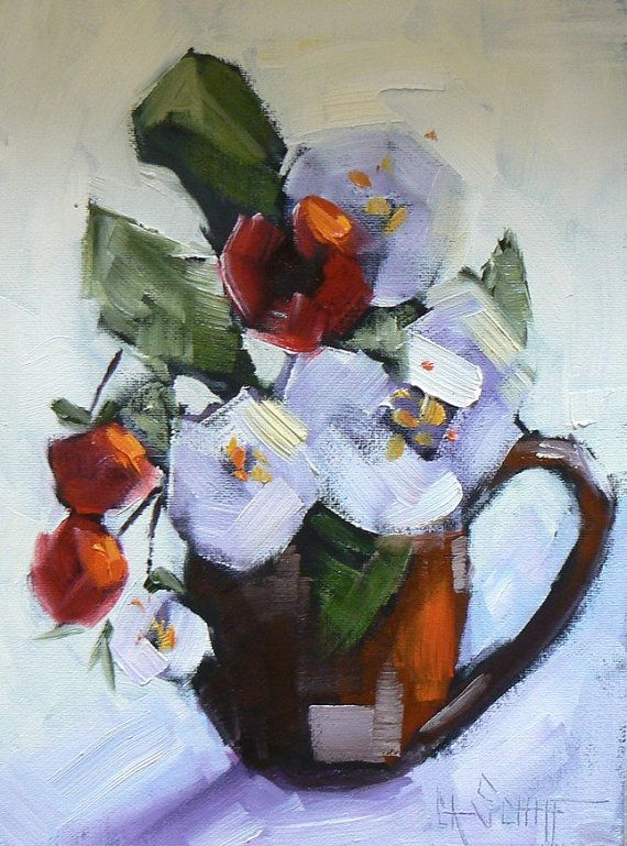 Flower painting floral still life daily painting small for Small paintings that sell