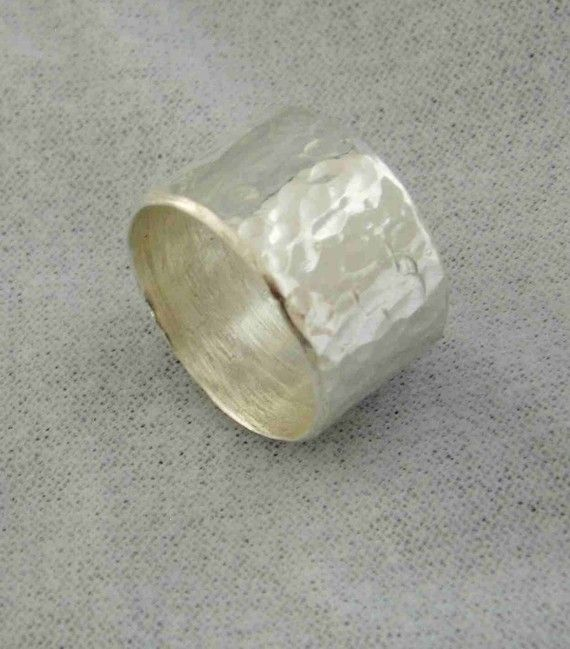 Silver Ring Thick Silver Band Chunky Silver Band by JewelrybySkye, $65.00
