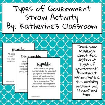 Types of Governments Straw Activity
